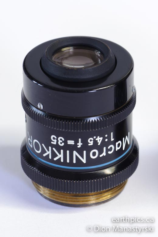 Macro-Nikkor lens 35mm SN36625 for bellows or Nikon Multiphot